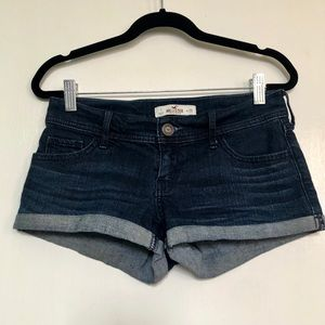 Hollister | Dark Wash Cuffed Jean Shorts